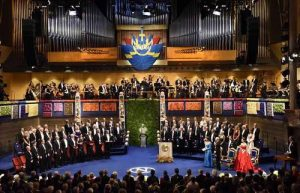 Nobel prize award ceremony